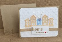 Realtor / New Home Cards / Make someone's new home move-in day extra special with a  hand stamped card. Shop at www.etsy.com/shop/lollypoppaperandink