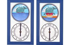 Tidepieces Tide Clocks / All 33 unique models of Tidepieces Animated Motion Tide Clock. These make great accents for waterfront or seaside homes, or great gifts!  Tidepieces motion tide clocks are one of the most unique and beautiful tide clocks to grace your home or boat! A precision tide movement is combined with a whimsical moving display that reflects your actual local tide conditions. Each hand built in beautiful Connecticut by artist Alan Winick. You can see the tide rise and fall in the picture!