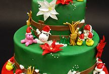 Christmas cake's , cupcakes and cookies