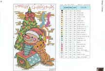 Borduren kerstkaarten