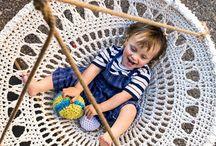 crochet swing chair