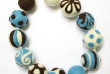 Felted braclets and necklaces