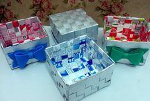 Caixa de leite artesanato