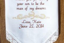 Western Wedding / Wedding Gift Custom Personalized Embroidered Wedding Handkerchiefs by Canyon Embroidery @ ETSY. www.CanyonEmbroidery.ETSY.com #weddinghandkerchiefs #weddinggift