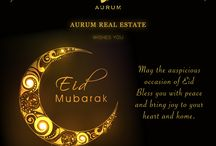 Celebrations and Events / Aurum Real Estate loves to celebrate festivals and success, in a grand fashion. This board depicts the same.