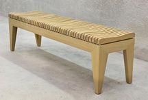 Zitmeubelen / Banken en krukken in massief hout, handgemaakt in eigen atelier.