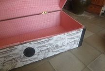 Muebles reciclados y recuperados / Muebles recuperados, restaurados o reciclados para la Casa rural Melones