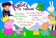 Peppa Pig Birthday Party Invitations / Peppa Pig & George Birthday Party Invitations and thank you cards