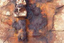 Surfaces, rust, peeling paint, nature