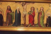 1420 circa. Crocifisso con santi e donatori. Friburgo, museo Unterlinden