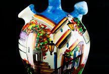 Botijos decorados / Botijos tradicionales de cerámica decorados y pintados artesanalmente