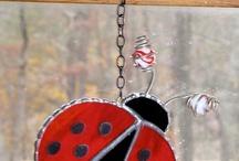 Stained glass sun catchers / Ladybug