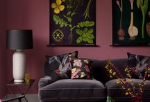 Mulberry Purple: AW15 Colour Trend / Mulberry Purple home colour trend for autumn winter 2015. Inspirational colour ideas #interiordesign