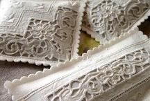Vintage Linen & Lace & Doiles & Ribbon