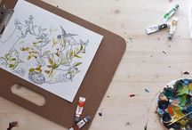 Watercolor Flowers / Little peaks into my floral watercolor paintings.