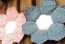 Hexágonos/jardín de la abuela / hexagonos, flores