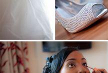 Pre wedding photos / Bride getting ready