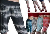 Pantaloncini donna pinocchietto capri fantasia hippy
