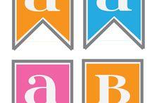 Free printables alphabet