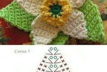 kwiaty na szydelku