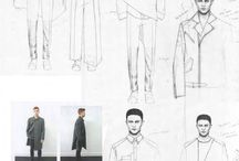 Fashion Design Sketches Man Men