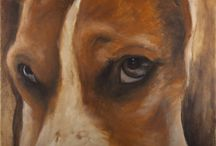 Animals - my painting / Naše malá zoo přenesena skrze štětce na plátna.