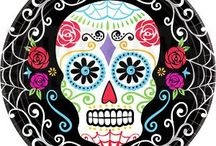 Halloween Day Of The Dead Party / Cheap Day of The Dead Halloween Partyware