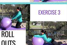 Fit ball fitness fun.