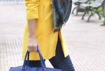yellow coat
