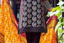 Buy Black/White Embroidered Dobby Salwar Kameez by Bonanza 2015 Email