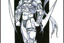 Arqueotipo Hombre Salvaje / Ademas de Orcos y más orcos!  Hay algunos Hombres-animales, trolls y espiritus naturales