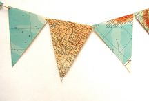 Trends - Maps / Trending :  Using recycled maps in home decor, art and design.