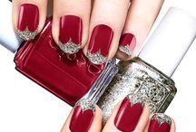 Xmas nails and make up