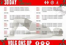 30 day Pre Christmas Challenge / Kom in shape voor de kerstdagen met de Pre Christmas Challenge!