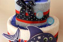 Plienkové torty pre chlapčeka / Originálne a trendy plienkové torty - ideálny darček na krstiny, narodeniny alebo len tak - pre radosť bábätka i mamičky :)