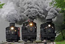 trenes antiguos / by Monica Openhai Nuñez