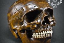 1928 Lawn Bowl Carved into Human Skull With Awsome Detail / Find this masterpiece in Etsy