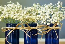 wedding decor blue red