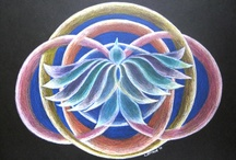 MANDALAS-Visionary & Spirit Art / Mandalas are circular symbols for unity, wholeness, and healing. Used by ancient cultures for centuries. I teach women how to make mandalas as symbols for their growth and healing. www.alivewithcreating.com/art.html