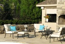 Beautiful Backyards | Patio Furniture / Creating an outdoor room is made easy with quality patio furniture. From outdoor wicker to cast aluminum, one can create a dining, living or entertainment area in any backyard. From patio sets to deep seating to lounge chairs http://www.insideoutpatio.ca / by InsideOut Patio Furniture