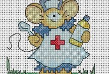 cross stitch get well