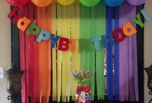 Rainbow birthday party for kids and preteens