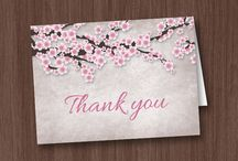 Say Thank You! / A collection of printable and printed thank you cards for #wedding, baby shower, bridal shower, birthday celebrations, and everyday sentiments of gratitude. #thankyoucards