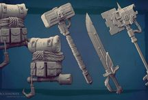 Clay Fantasy Weapons 3d Models