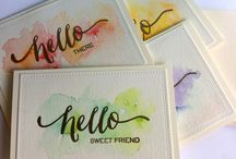 Embossing powder cards