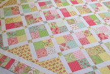 Girl quilts