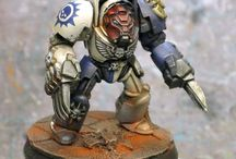 """Novamarines / Ultramarines successor chapter featured in the 40K novel """"Death of Integrity"""""""