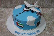 Plane cakes, cookies and cupcakes..