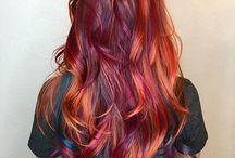 Färgglatt hår