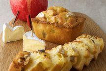 cake au camembert  président  et pommes facile